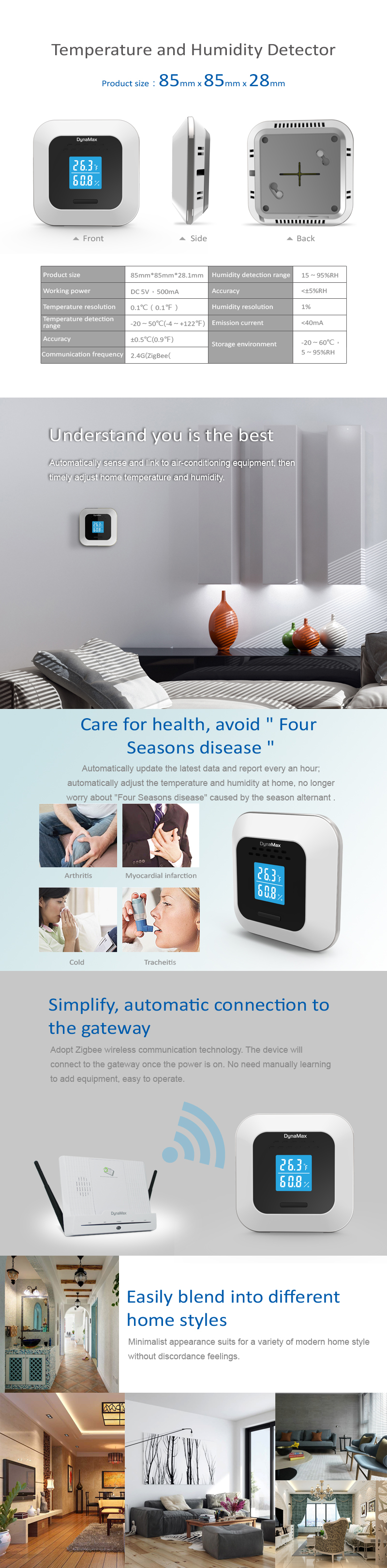 Temperature and Humidity Detector